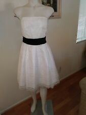 Used Alyn Paige NY White Lace Strapless Dressy Dress Formal SZ 13/14
