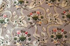 "Antique French 18thC Floral Silk Brocade Fabric~Dolls,Home,Collectors~51""X19"""