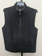 Daniel Cremieux Signature Men's Charcoal Gray Alpaca Wool Zip Vest Size M NEW