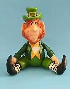 Russ Berrie LEPRECHAUN Hard Jointed Figurine Artist Kathleen Kelly ST. PATRICKS