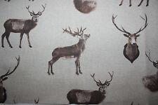 Dekostoff 50 x 140 Hirsch/Jagtmotiv