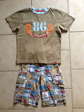 Gymboree surfer surfin outfit s/s shirt and shorts, size 5