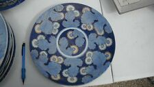 "12"" ant vtg Imari Japanese charger,chrysanthemums,blue/aprico/gold,cabinet plate"