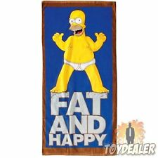 HOMER SIMPSON FAT AND HAPPY 75 x 150 CM BADETUCH TOWEL SIMPSONS SOMMER STRAND