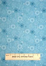 Care Bears Fabric - Aqua Blue Paisley Floral Baby Nursery OOP 75037 VIP - YARD