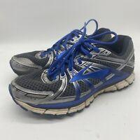 Brooks GTS 17 Gray Silver Blue Running Shoes Men's Size 9.5 (1102411D017) MEDIUM