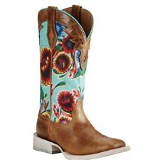 Ariat Western Womens BOOTS Circuit Champion Floral Turq Brown 10019943 10