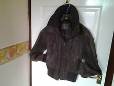Brown Cardi style Collar /Waist & Cuffs Real Leather Jacket By New Look Size 12