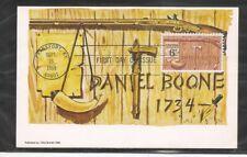 US SC # 1357 Daniel Boone FDC. Colorano Maximun Card Cachet