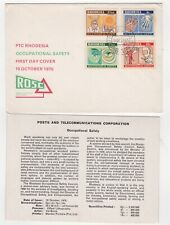 1975 RHODESIA First Day Cover OCCUPATIONAL SAFETY SG520/3 + Info Card SALTSBURG