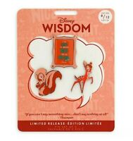 Disney Bambi Pin Wisdom Series Set  Flower Thumper Limited Release NEW
