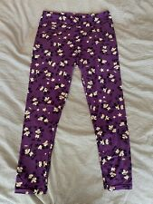 Lularoe, Purple Mickey Mouse, Leggings - Excellent Condition - Tall & Curvy