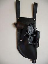 Star Wars Black DL-44 side mount scope LEATHER HOLSTER 4 oz costume fits blaster