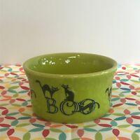 Fiestaware Lemongrass Boo Cat Ramekin Fiesta Green Halloween Individual Cake