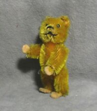 "Vintage Schuco Piccolo 2.5"" Miniature Mohair Bear - Jointed - Adorable!"