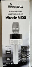 Miracle M100 - Bluetooth Karaoke Microphone Wireless, with LED Screen, portable
