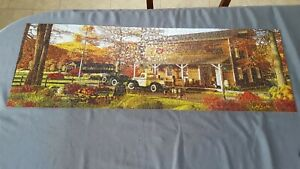 Randy Eagles Panoramic 1000 pc 3 Ft Puzzle Sugar Creek Cider Mill Apples Truck