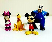 Disney Mickey & Friends Plastic Figure Bundle Pete Pluto Mickey Minnie Mouse