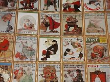 VTG CHRISTMAS WRAPPING PAPER GIFT WRAP THE SATURDAY EVENING POST NORMAN ROCKWELL