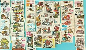Lot of 61 Vintage 1970 Donruss Odder Odd Rods Trading Cards - Used Condition