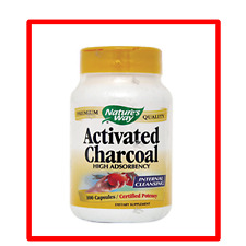Nature's Way, Activated Charcoal -560Mg - 100 Capsules . Exp Date:12/2021