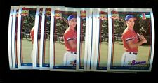 1991 TOPPS #333 CHIPPER JONES RC LOT OF 12 MINT *INV1793