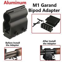 All Aluminum Heavy Duty M1 Garand Bipod Adapter, Picatinny Weaver Mount