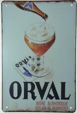 """Orval Biere Trappist Belgian Belgium Beer Tin Metal Sign Retro Plaque 8x12"""" NEW"""
