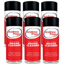 6 X ANDREW PAGE BRAKE DISC & CLUTCH CLEANER SPRAY AEROSOL 500 ML - XUK975 - SALE