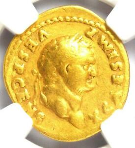 Roman Titus Gold AV Aureus Livia Coin 79-81 AD - Certified NGC Fine