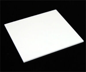 "1/8"" (3mm) Solid White Acrylic Plexiglass Sheet Thick 12""x12"" White Board"