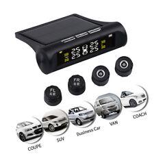 Solar Car TPMS Alarm Tire Pressure Monitor w/ 4x Sensor Auto Security System Kit