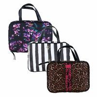 Victoria's Secret Cosmetic Bag Travel Zip Hanging Case Zipper Makeup New Nwt Vs