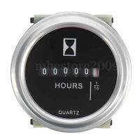 DC 10~80 V High Accuracy Boat Car Truck Engine Round Hour Meter Hourmeter