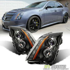 Black 2008-2014 Cadillac CTS Factory Style Headlights Headlamps 08-14 Left+Right