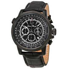 Lucien Piccard Black Dial Chronograph Mens Watch 10049-BB-01-BLK-SET