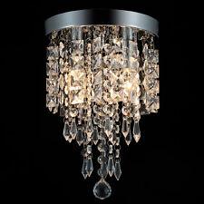 Crystal Chandelier Flush Mount Ceiling Light 2/3/4/5 Bulbs Pendant Lighting