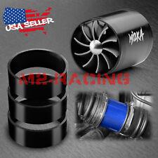 "Mi2KA Turbine Air Intake Fuel Gas Saver Double Fan System Turbo 2.5""-3.0"" Black"