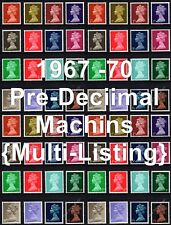 More details for gb 1967-70 sg723-744 machin definitives pre-decimal multi-listing unmounted mint