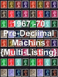GB 1967-70 SG723-744 Machin Definitives Pre-Decimal Multi-Listing Unmounted Mint