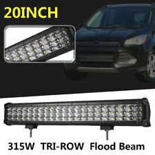 20Inch 3-Row 315W Led Flood Light Bar Work Lamp for Offroad Truck Boat SUV ATV