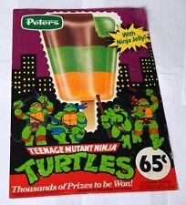 Teenage Mutant Ninja Turtles Ice Cream Sign Peters Australia vintage 1990