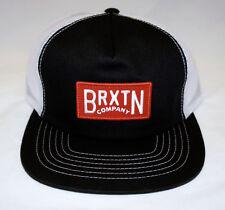 Brixton Langley Black White & Red Trucker Mesh Snapback Hat Cap