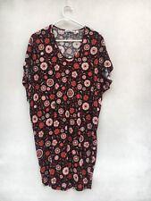 🍃.Womens Country Road Floral Print Short Sleeve T-Shirt Tee Dress Tunic Sz XXS