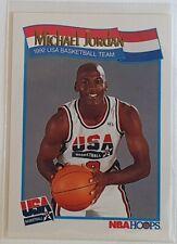 Carte Basketball NBA Michael Jordan Hoops 91/92 n°579 Team USA