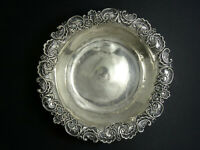 """ANTIQUE REPOUSSE Whiting Mfg. Co. Pompadour STERLING SILVER 5419 BOWL 5"""" / 46.9g"""