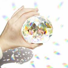 80mm Clear Cut Crystal Suncatcher Ball Prisms Glass Sphere Faceted