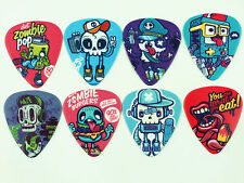 10pcs 0.49mm Cartoon skull guitar picks Plectrums Printed Both Sides