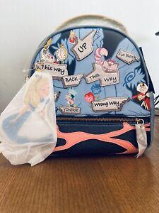 Disney Alice In Wonderland Direction Mini Backpack! RARE-New Danielle Nicole