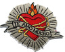 """Frida Kahlo Heart Te Amo Mucho Love Shaped Eternal Flame Embroidered Patch 4.5"""""""